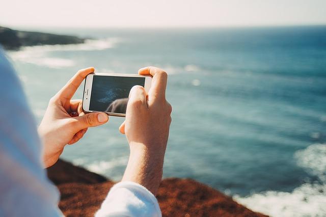 Foto dengan smartphone
