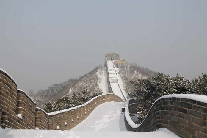 Tembok China saat musim dingin